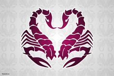 Scorpio Season:   I really like this ... Looks like a scorpion, Sea Horses and a Heart too, depending on how you look at it.  #astrology