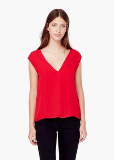 Flowy top - Shirts for Women | MANGO