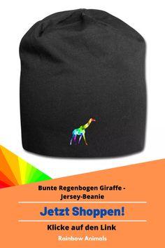 Kaufe dir jetzt diese Mütze für die windige Zukunft. Lass dir dieses und weitere Tier-Zeichnungen auf deine Accessoires drucken   Schau jetzt in unserem Shop vorbei! Klicke jetzt auf den Link! #Mütze #Accessoires #Stile #Jersey-Beanie #Spreadshirt #Giraffe #Rainbowanimals #Mode