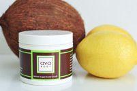 lemon sugar body scrub    Lusciously exfoliates and moisturizes your whole body.    [LBS01] 4 oz  $16.95