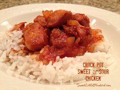 Crock Pot Sweet and Sour Chicken - Four Ingredients - Sweet Little Bluebird