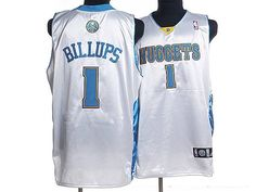 Nuggets #1 Chauncey Billups Embroidered White NBA Jersey! Only $20.50USD