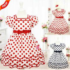 child party TuTu skirt with dot printed 2~15T kids Princess perform costume cute flower girl dress cheap evening frocks/gown on AliExpress.com. $86.97