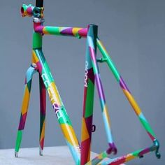 Geometric Bike Frame Design by Festka // Bicycle Paint Job, Bicycle Painting, Bicycle Art, Velo Design, Bicycle Design, Bmx Bikes, Cycling Bikes, Velo Vintage, Urban Bike