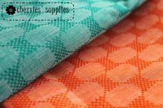 U CHOOSE  Fat Quarter Emerald green or Orange  by ChezviesSupplies, $2.50