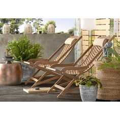 Mistana Nathen Swing Lounger with Cushion Outdoor Lounge, Outdoor Armchair, Outdoor Seating, Outdoor Living, Teak Garden Bench, Wooden Garden Benches, Patio Chairs, Outdoor Chairs, Outdoor Furniture