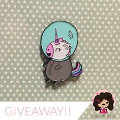 I am a fan of the talented @claudiaramosdesigns. She is doing a giveaway of this superdorable pin! Go check out her feed for cuteness overload   #artistsupportingartist #spaceunicorn #illustration #claudiaramosdesigns #giveaway #instagramgiveaway