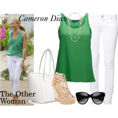 Cameron Diaz in The Other Woman by xoxosamantha on Polyvore featuring SELECTED, even&odd, Christian Louboutin, MANGO, Tory Burch, movie, CameronDiaz and theotherwoman