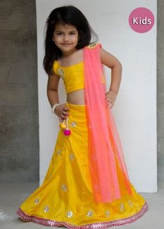 yellow-silk-gota-patti-kids-lehenga-choli........