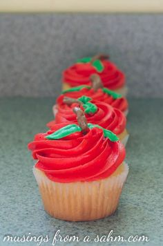 Cute apple cupcakes!
