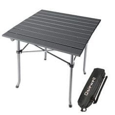 668cf88f642 Qisiwell Light weight Camping Table Aluminum Outdoor Folding Camping Table, Picnic  Table, Aluminum Table