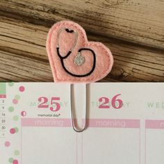 Stethoscope Heart Planner Clips and Bookmarks are perfect for keeping your page marked or to use as a simple yet functional decoration. Also,