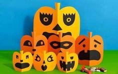 Lavoretti di Halloween per la prima elementare - Zucche di carta fai da te  Halloween Bimbi 7532be8e6456