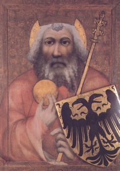 Master Theodoric, Charlemagne, c.1370. Chapel of the Holy Cross, Karlstein Castle