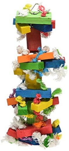 Knots Block Chewing Toy Medium Bird Macaw Cockatoo Activity Center Pet Supplies #Paradise