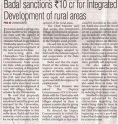 Badal Sanctions Rs 10Cr For Integrated Development of Rural Areas.  #Shiromaniakalidal #youthakalidal #Sukhbirsinghbadal #Progressivepunjab