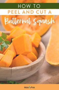 Some vegetables are just hard to figure out, and the butternut squash is definitely one of them! Find out the best tips and tricks for cutting and peeling a butternut squash the right way #butternutsquash #squash #kitchentips #cookingtips Baby Led Weaning Breakfast, Baby Led Weaning First Foods, Baby First Foods, Baby Weaning, Baby Finger Foods, Baby Puree Recipes, Pureed Food Recipes, Baby Food Recipes, Healthy Recipes
