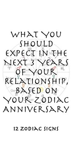 What You Should Expect In The Next 3 Years Of Your Relationship, Based On Your Zodiac Anniversary Zodiac Compatibility, Zodiac Horoscope, Astrology, Sagittarius, Aquarius, Zodiac Relationships, Relationship Bases, Zodiac Sign Facts