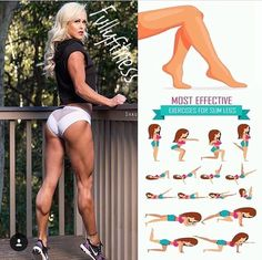 Exercises Most effective for slim legs ! Repeat this exercise to maximize the effect on your leg ! Muscle Fitness, Health Fitness, Leg Training, Training Exercises, Workout Bauch, Gewichtsverlust Motivation, Thigh Exercises, Butt Workout, Easy Workouts