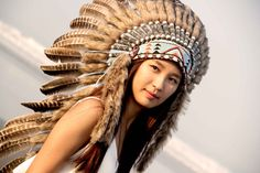 Indian Headdress, native american warbonnet, turkey feahters, brown feathers, headdress, chief headdress, brown headdress, boho, bohemian