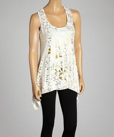 Loving this White Pebble Sidetail Tunic - Women on #zulily! #zulilyfinds