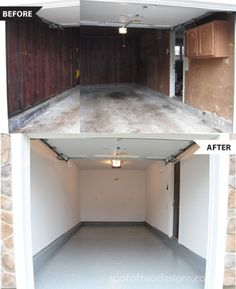 Garage makeover with before and after photos | spotofteadesigns.com