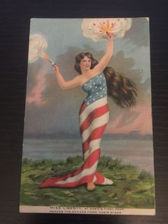 Miss Liberty Postcard Condition VG