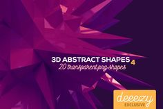 3D Abstract Shapes 4 – Deeezy – Freebies with Extended License
