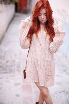 pink sweater dress How to Style a Simple Sweater Dress
