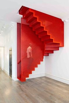 Impressive Staircase Design Inspirations Futurist Architecture - Impressive Staircase Design Inspiration Obviously Itll Be Stylish And Chic And Therefore You Do Not Need To Be Concerned About Decorating The Staircase For A Very Long Time Then A Stairca # Interior Stairs, Interior And Exterior, Red Interior Design, Red Design, Design Miami, Interior Rendering, Interior Paint, Luxury Interior, Architecture Design