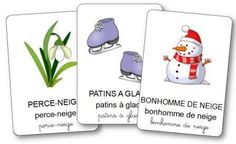 Imagier de l'hiver Read In French, How To Speak French, Learn French, Teaching French, Vocabulary Activities, Activities For Kids, Petite Section, Grande Section, Snow