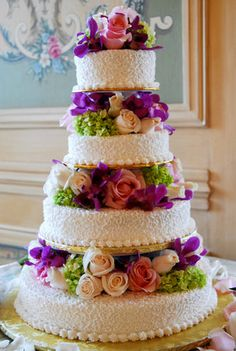 Beautiful purple, green and pink wedding cake Pastel Wedding Cakes, Wedding Cake Fresh Flowers, Wedding Cakes With Cupcakes, Beautiful Wedding Cakes, Gorgeous Cakes, Pretty Cakes, Amazing Cakes, Cupcake Cakes, Fashion Cakes