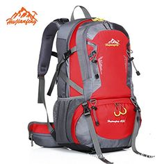FW Large-capacity outdoor travel backpack waterproof sport backpacks for men and women riding -- Discover this special outdoor gear, click the image : Backpacking gear