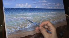 Paint A Tropical Beach Time Lapse With Acrylics Painting Lesson Class Clear Water - YouTube