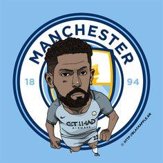 Manchester City No.22 Gael Clichy Fan Art