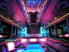 Party Bus limo hire broker - providing a range of hummer limo hire to all areas in the UK. Call now for a cheap limousine hire. Luxury Car Hire, Limousine Car, Hummer Limo, Limo Party, Class A Rv, Neon Room, Bus Interior, Bus Travel, House On Wheels
