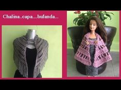 capita,chalina o bufanda puntada fácil a crochet - YouTube