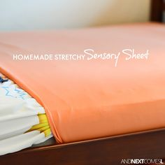 Tutorial for making homemade DIY stretchy lycra sensory sheets for kids with autism or sensory processing disorder from And Next Comes L Sensory Activities For Autism, Music Activities For Kids, Autism Resources, Infant Activities, Sorting Activities, Sensory Bed, Diy Sensory Board, Sensory Therapy, Sensory Wall