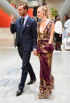 Beatrice Borromeo in Valentino and Pierre Casiraghi attend Convivio Photocall 2016 in Milan on June 7, 2016