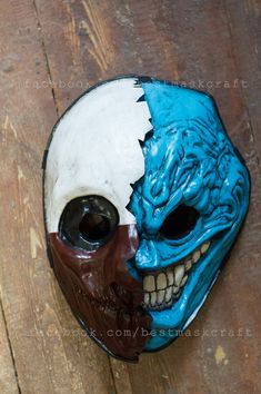 inspired Wolf and Grin mixed mask Payday Payday 2 the heist game Halloween cosplay props