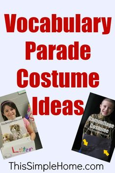 This Simple Home: Vocabulary Parade Costumes