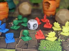 Krosmaster Tension Dice Tokens 3d printed Tokens after being dyed