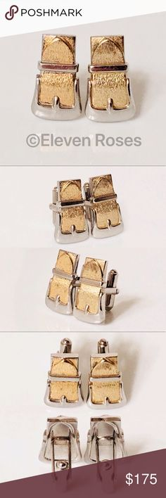 I just added this listing on Poshmark: Sterling Silver & Gold Belt Buckle Cufflinks. #shopmycloset #poshmark #fashion #shopping #style #forsale #Other