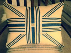British Blues Pillow by Caswellandcompany on Etsy