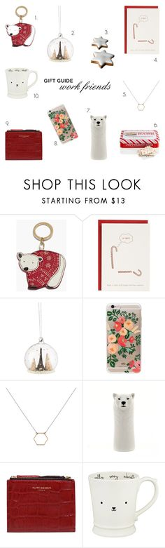 """""""GIFT GUIDE work friend BFF"""" by rachaelselina ❤ liked on Polyvore featuring Talbots, Rifle Paper Co, A Weathered Penny, Kurt Geiger, R.H. Macy & Co. and giftguide"""