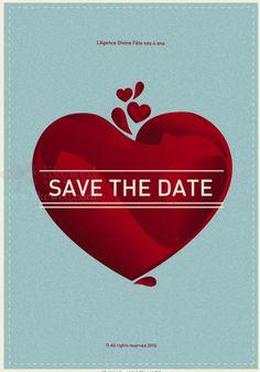 Cool and beautiful wedding invitation design