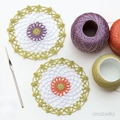 15 minutes made crochet doilies - Free Pattern, Anabelia Craft Desig Crochet Dollies, Crochet Stars, Crochet Doily Patterns, Easter Crochet, Thread Crochet, Crochet Motif, Crochet Flowers, Free Crochet, Knit Crochet