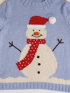 Free Christmas jumper pattern from Merry Christmas Sweaters to Knit! Jumper Knitting Pattern, Jumper Patterns, Knitting Patterns Free, Free Knitting, Baby Knitting, Free Pattern, Knitting Needles, Christmas Jumpers, Christmas Sweaters