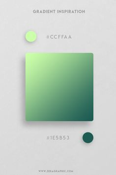 Mint and Green Color Gradient. Vibrant colors and vivid gradients are one of the key trends in UI, web, and graphic design nowadays. I create 16 Beautiful Color Gradient combination that you can use in your next design projects. The hex codes of each color are mentioned on the color palettes. Get more design inspiration with this graphic design blog post! #colorgradient #designinspiration #graphicdesign #color