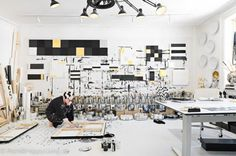 studio of painter/artist tenka gammelgaard | elle deco uk